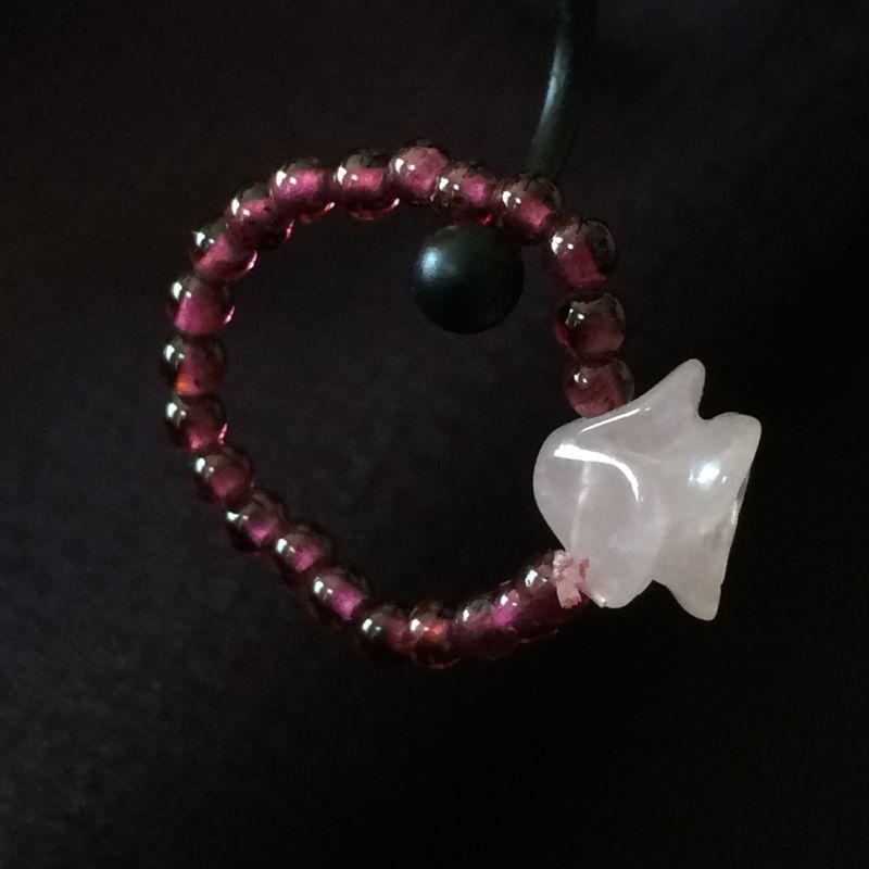 画像3: 愛の薔薇♥ローズクォーツ&ガーネット リング