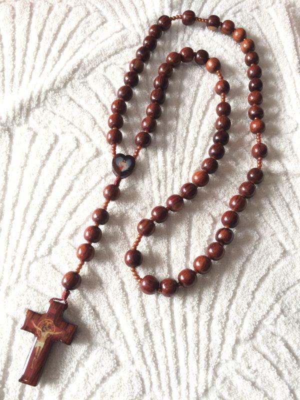画像3: 【限定】聖なる十字架 祈りのロザリオ ウッド B