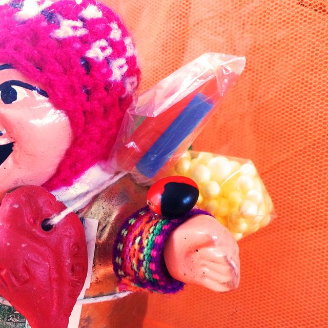 画像4: 【スペシャル エケコ(エケッコ)人形】『幸運のインカ紐&幸運を呼ぶ実付き』ゴールデン!Lサイズ(約18センチ)『ペルー産!』【お守り屋さんオリジナル】
