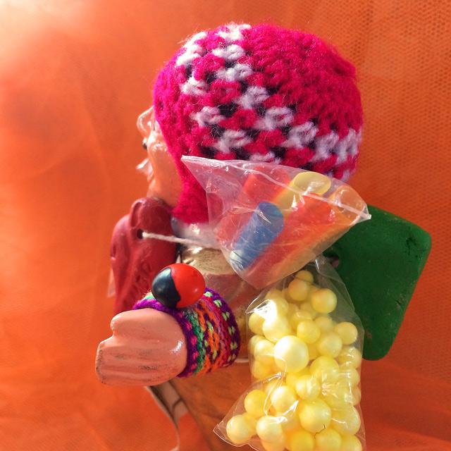 画像3: 【スペシャル エケコ(エケッコ)人形】『幸運のインカ紐&幸運を呼ぶ実付き』ゴールデン!Lサイズ(約18センチ)『ペルー産!』【お守り屋さんオリジナル】