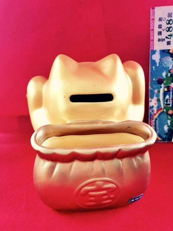 画像3: 【SALE】大当たり!宝くじ入れ:金猫