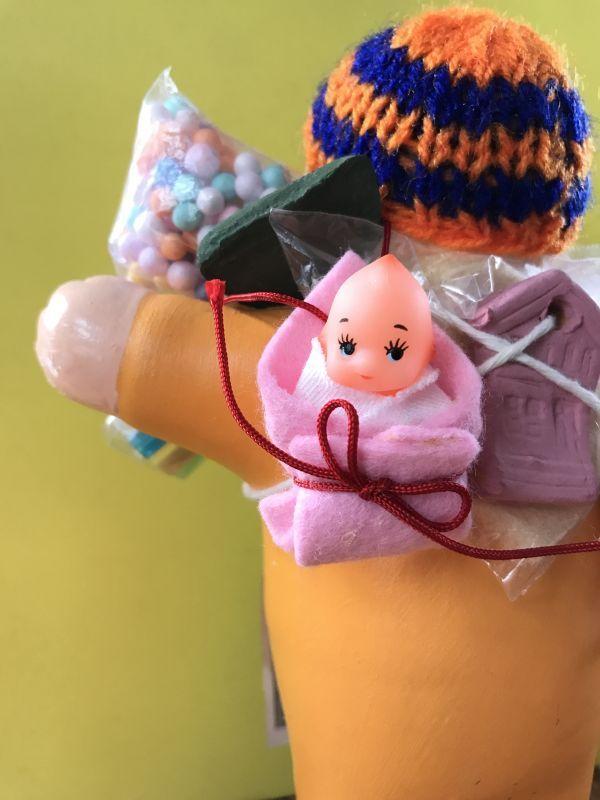 画像3: エケコ人形用小物 お願い 赤ちゃんが欲しい❤おくるみ 青 【小物のみの価格】