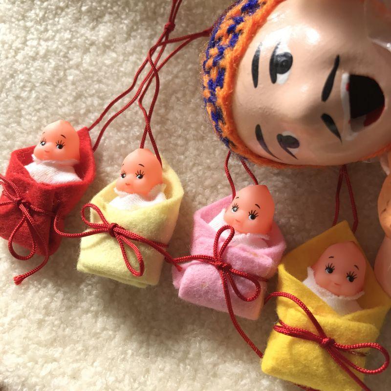 画像4: エケコ人形用小物 お願い 赤ちゃんが欲しい❤おくるみ 青 【小物のみの価格】
