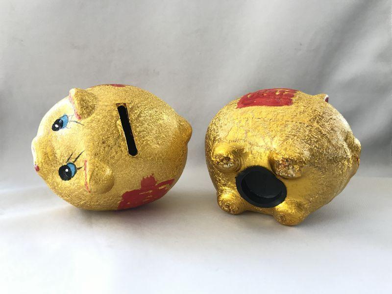 画像5: お金が貯まる 金ブタ・宝船 貯金箱
