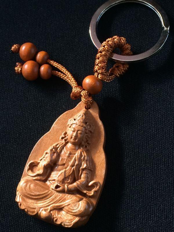 画像1: 救済の仏様★観世音菩薩 お守りキーリング