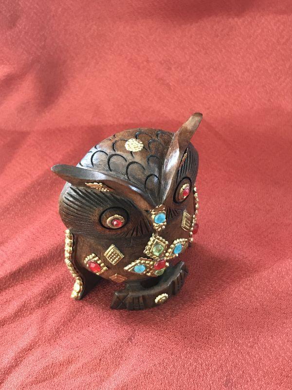 画像2: 神様の乗り物 インドの宝石ふくろう