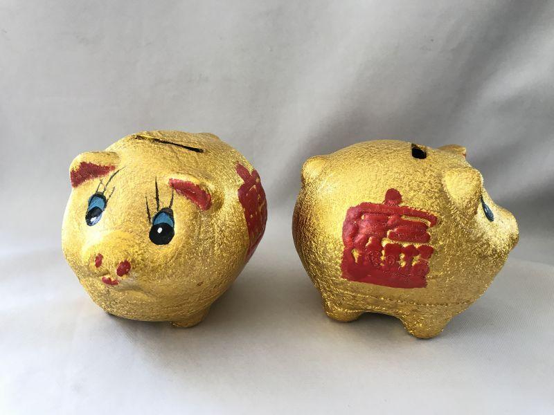 画像2: お金が貯まる 金ブタ・宝船 貯金箱
