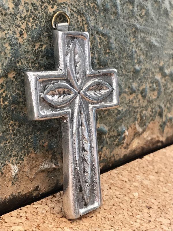 画像2: ご加護を!! メキシカンピュータークロス 十字架 リーフ