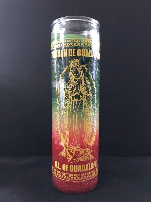 画像1: 愛と健康と繁栄をもたらす★グアダルーペ グラデーションキャンドル