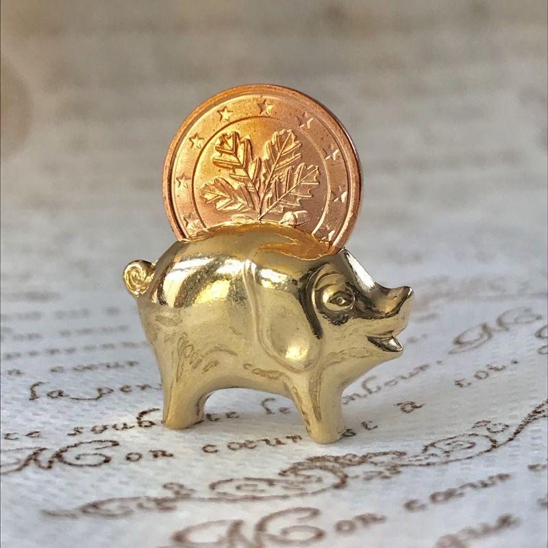 画像3: 繁栄と幸運を!ラッキーユーロ☆ピッグ ゴールド