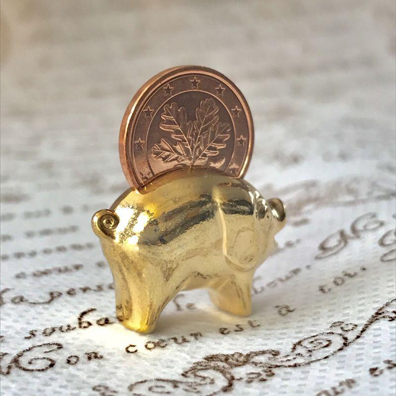 画像4: 繁栄と幸運を!ラッキーユーロ☆ピッグ ゴールド