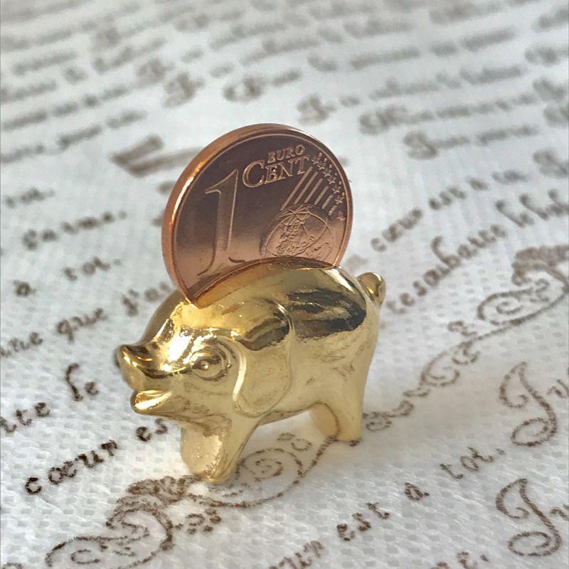 画像2: 繁栄と幸運を!ラッキーユーロ☆ピッグ ゴールド