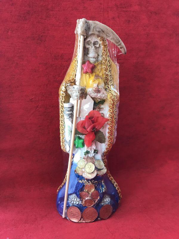 画像1: どんな願いも叶えるといわれる奇跡の聖人!サンタ・ムエルテ像 Mサイズ3COLOR-B