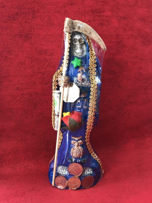 画像1: どんな願いも叶えるといわれる奇跡の聖人!サンタ・ムエルテ像 MサイズB-FUKUROU