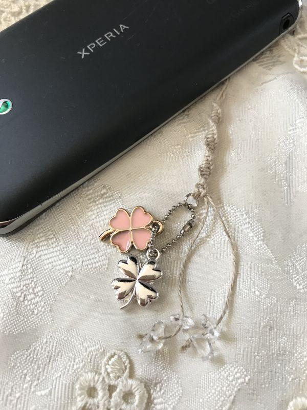 画像3: 幸せの四葉クローバー★ストラップ ピンク