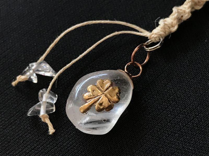 画像2: 浄化と幸せの四葉クローバー★ストラップ 水晶