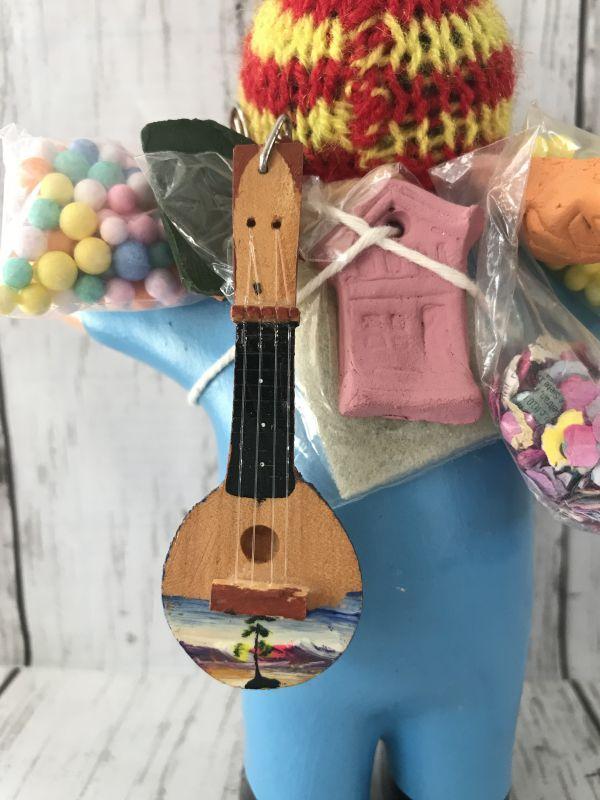 画像1: エケコ(エケッコー)人形用小物 ペルーのミニチュア楽器・ギターKH【小物のみの価格】丸