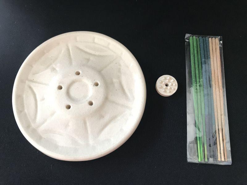 画像4: テラコッタ お香立て 丸形(サービス香付き)
