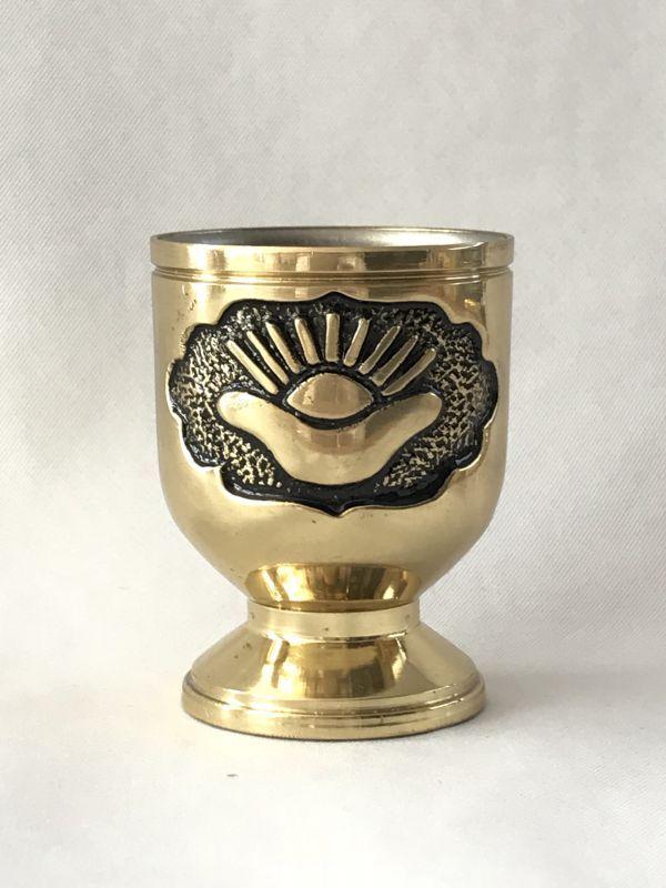 画像2: 金財の波が注がれる!金色元寶水盃 銅製