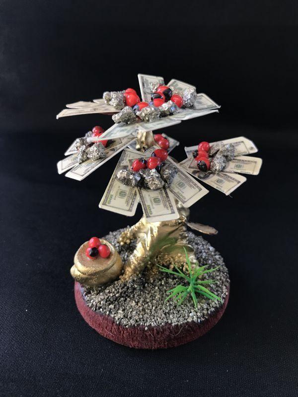画像1: 大金!お金のなる樹!財運パワー上昇!幸運の実壺付き