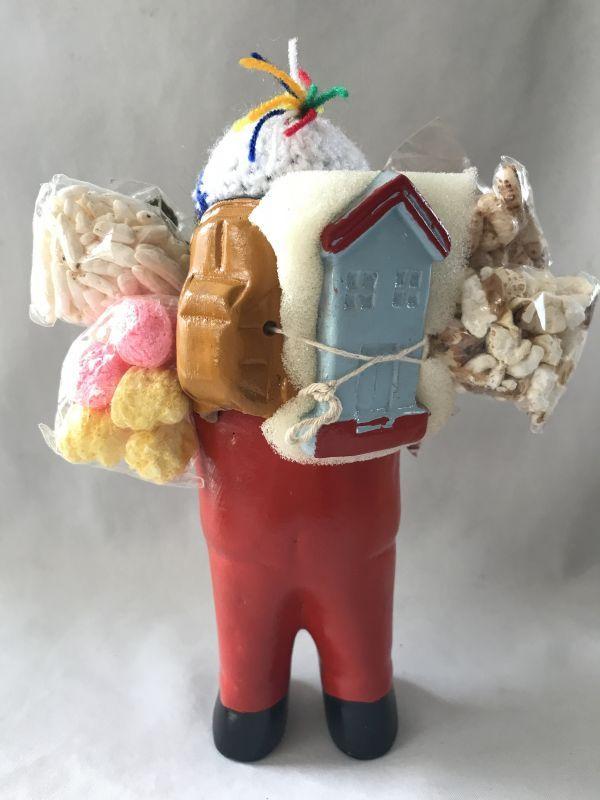 画像4: 【レッド】荷物たっぷり!!エケコ(エケッコ)人形 Lサイズ(約18.5センチ)【限定】