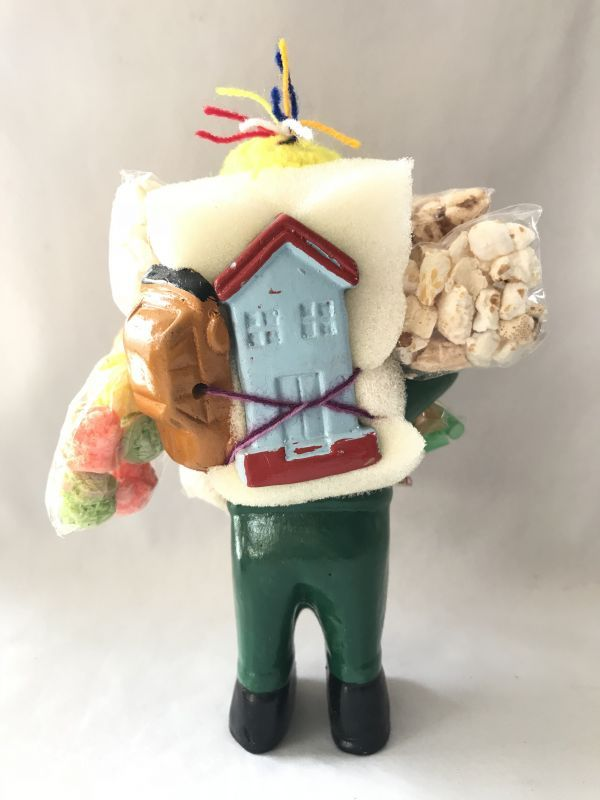 画像4: 【グリーン】荷物たっぷり!!エケコ(エケッコ)人形 Lサイズ(約18.5センチ)【限定】