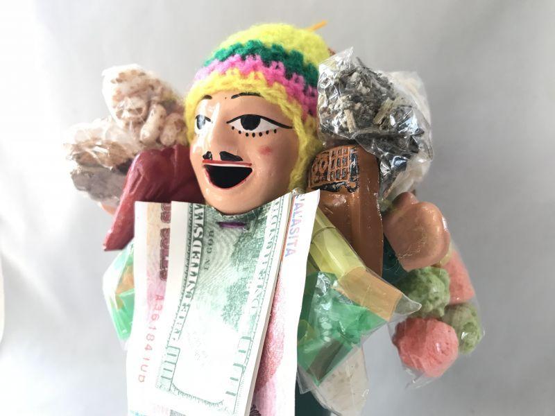 画像3: 【グリーン】荷物たっぷり!!エケコ(エケッコ)人形 Lサイズ(約18.5センチ)【限定】