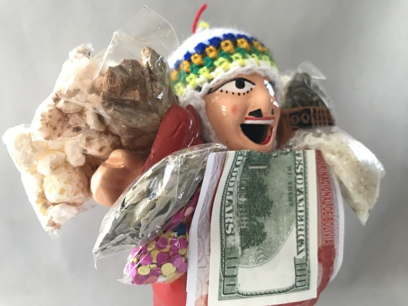 画像3: 【レッド】荷物たっぷり!!エケコ(エケッコ)人形 Lサイズ(約18.5センチ)【限定】