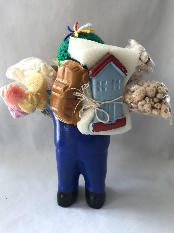 画像4: 【ブルー】荷物たっぷり!!エケコ(エケッコ)人形 Lサイズ(約18.5センチ)【限定】