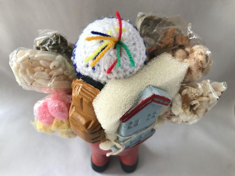 画像5: 【レッド】荷物たっぷり!!エケコ(エケッコ)人形 Lサイズ(約18.5センチ)【限定】