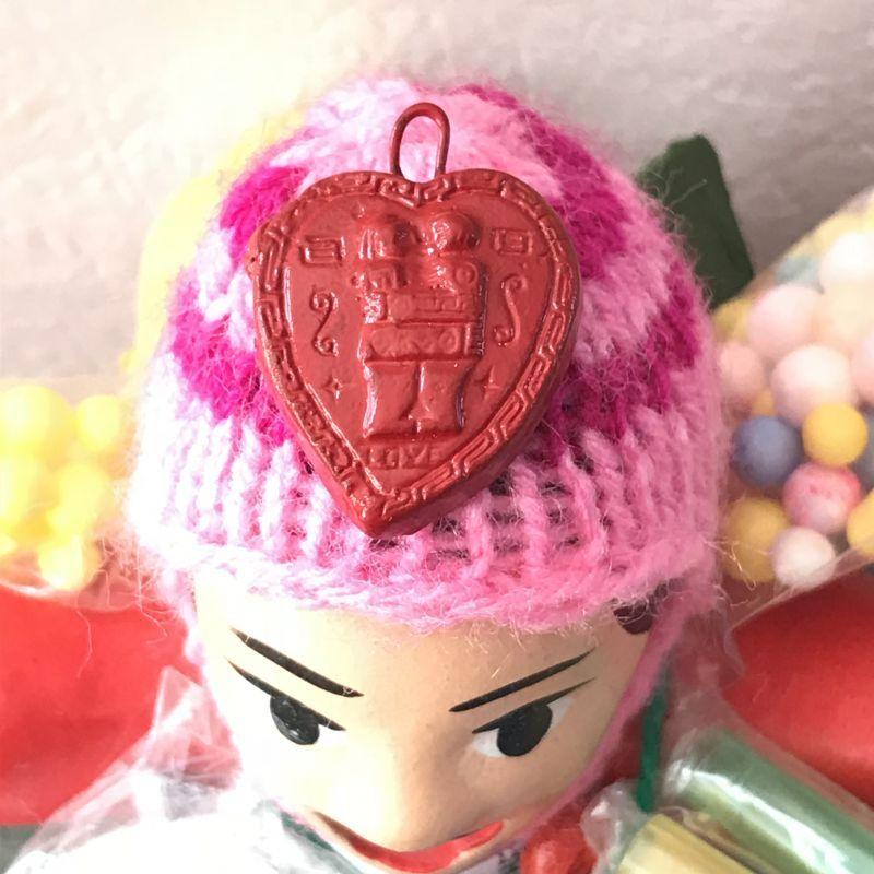 画像2: エケコ人形用小物☆もっと愛情運が欲しい♪愛のハート【出会い・恋愛成就・婚活】【小物のみの価格】