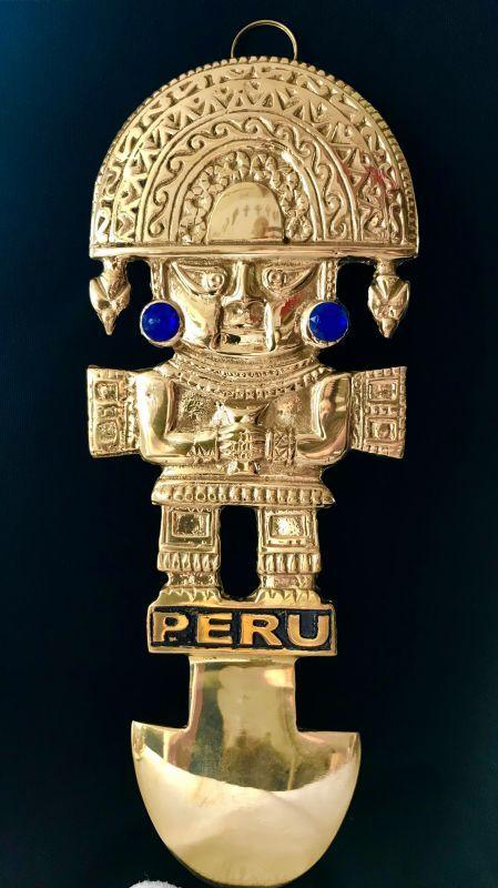画像1: BIG! 大強運と大金運に恵まれるパワーが秘められた ペルーの聖なる黄金の大きなナイフ★トゥミ B【モノ・マガジン2019年10-16号掲載商品】