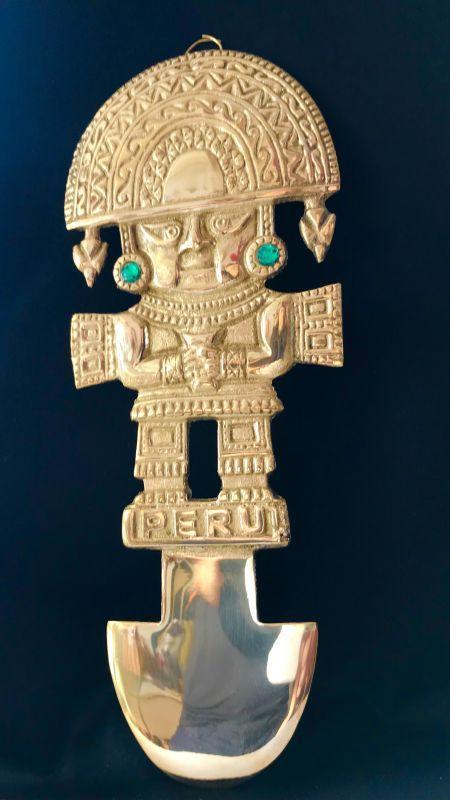 画像1: BIG! 大強運と大金運に恵まれるパワーが秘められた ペルーの聖なる黄金の大きなナイフ★トゥミ G