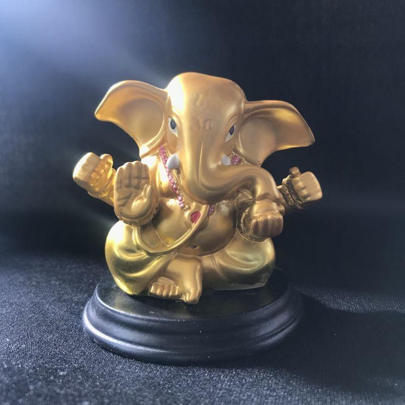 画像1: 幸運を導く守護神★真言ガネーシャ像