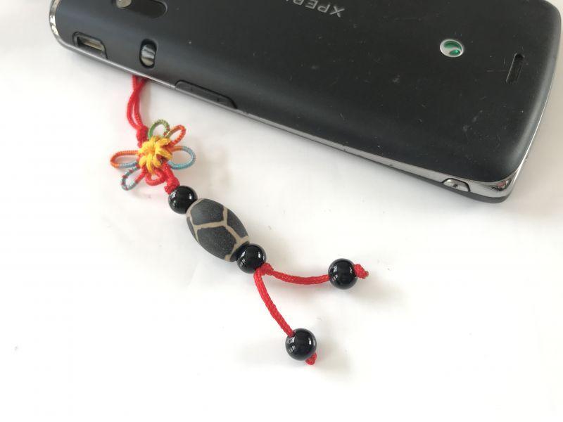 画像4: 健康運と病気防止 亀甲天珠 花結びストラップ