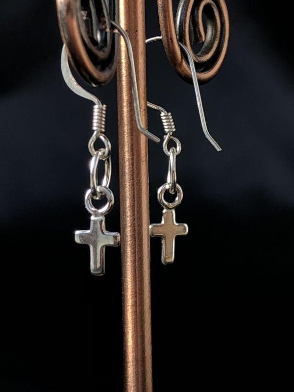画像2: あなたを護る☆小さな十字架ピアス silver925☆