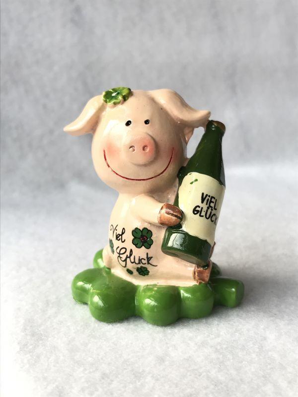 画像1: Viel Gluck! 幸運の四葉のクローバーに乗ったブタ! ワイン