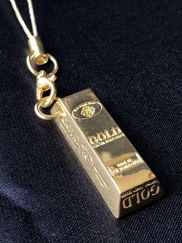 画像1: 金の力!幸運の金塊‼ ゴールドバーストラップ