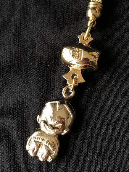 画像1: 願いを叶える!黄金色のビリケン根付 金の小槌