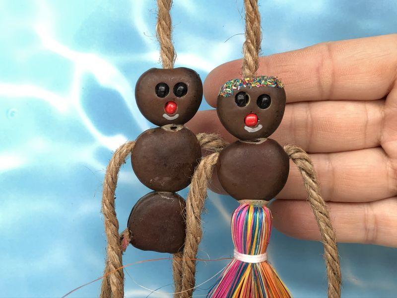 画像3: 愛・金・健康の 願いを叶えるといわれるボージョボー人形(結び方ガイド付)レインボー【ANIES.IMUZA】