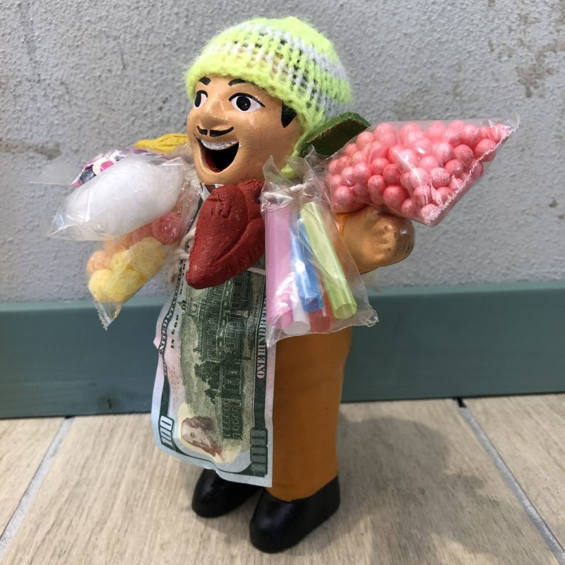 画像2: 【イエロー】『ペルー産!』エケコ(エケッコー)人形  Lサイズ(約18センチ)