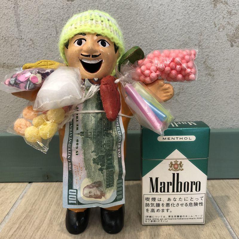 画像1: 【イエロー】『ペルー産!』エケコ(エケッコー)人形  Lサイズ(約18センチ)