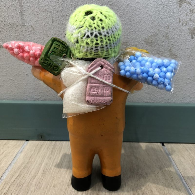 画像4: 【イエロー】『ペルー産!』エケコ(エケッコー)人形  Lサイズ(約18センチ)