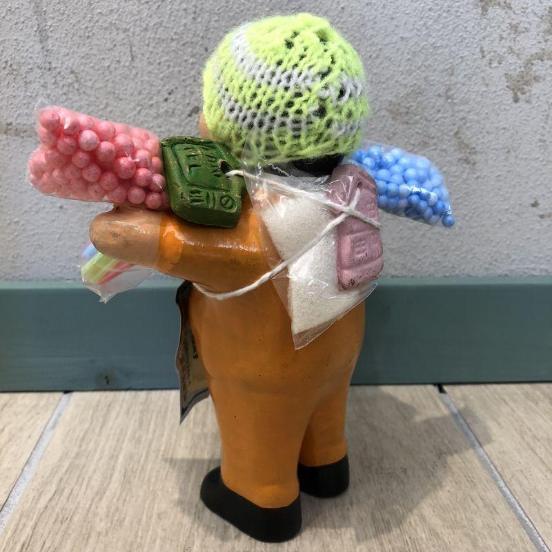 画像3: 【イエロー】『ペルー産!』エケコ(エケッコー)人形  Lサイズ(約18センチ)