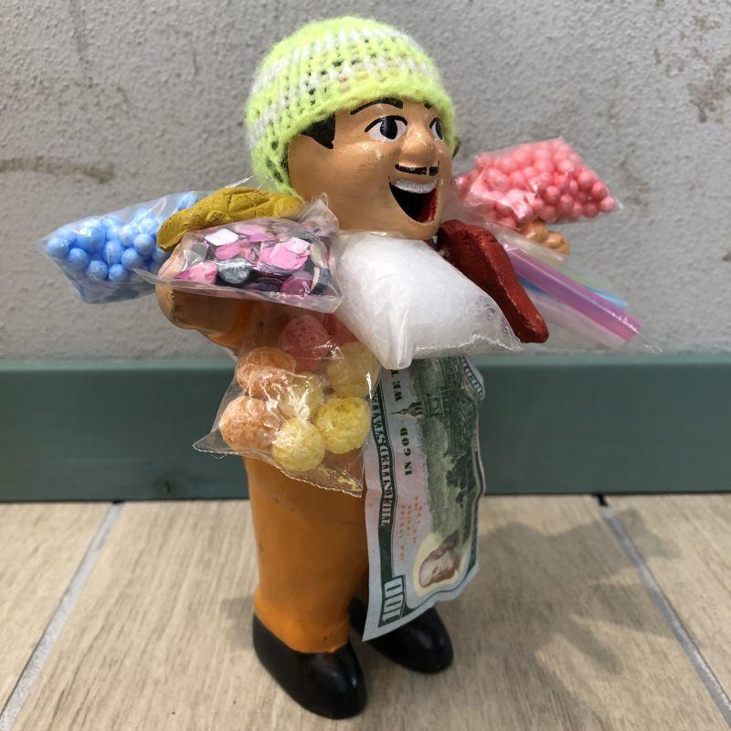 画像5: 【イエロー】『ペルー産!』エケコ(エケッコー)人形  Lサイズ(約18センチ)