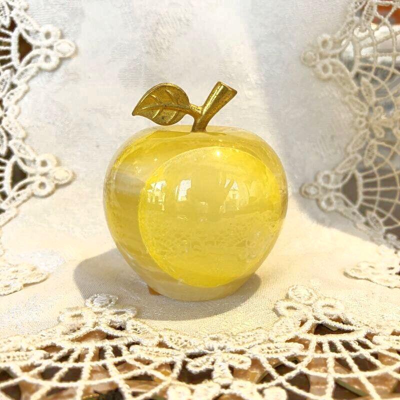 画像1: 愛と喜びを運ぶ オニキスりんご黄色