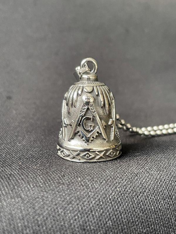 画像1: 道路の悪魔を封じ込め、様々な災難から身を守る★バイカーベルペンダント Freemason
