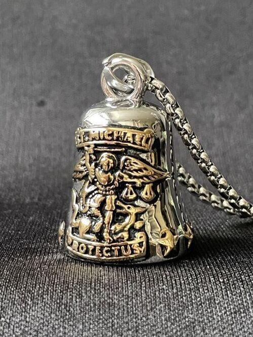 画像1: 道路の悪魔を封じ込め、様々な災難から身を守る★バイカーベルペンダント St.Michael