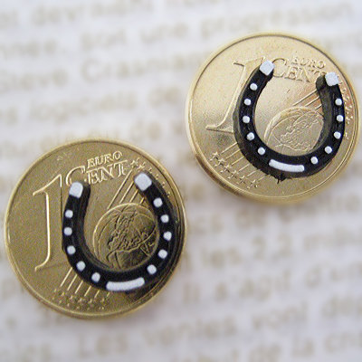 画像1: 力のラッキーコイン☆馬蹄 2個セット