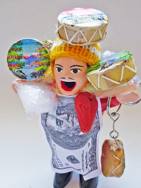 画像1: エケコ(エケッコー)人形用小物 鳴るよ♪ペルーのミニチュア楽器・ティンジャ【小物のみの価格】